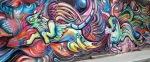 A colorful mural in Bogota
