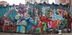 An anti-bullfighting mural in Las Nieves