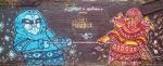 A striking mural in Las Nieves