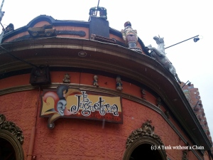 The entrance to La Jugueteria in Bogota