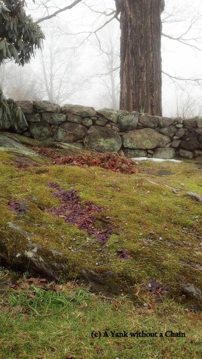 A stone wall at Weir Farm