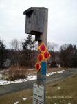 A bird feeder near the entrance to Tarrywile Park