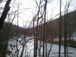 The frozen Back Pond at Tarrywile Park