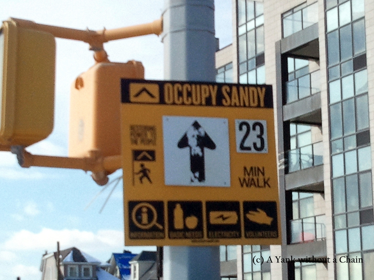 An Occupy Sandy sign in Queens