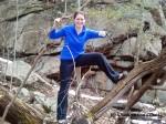 Dori on the rock trail at Ward Pound Ridge