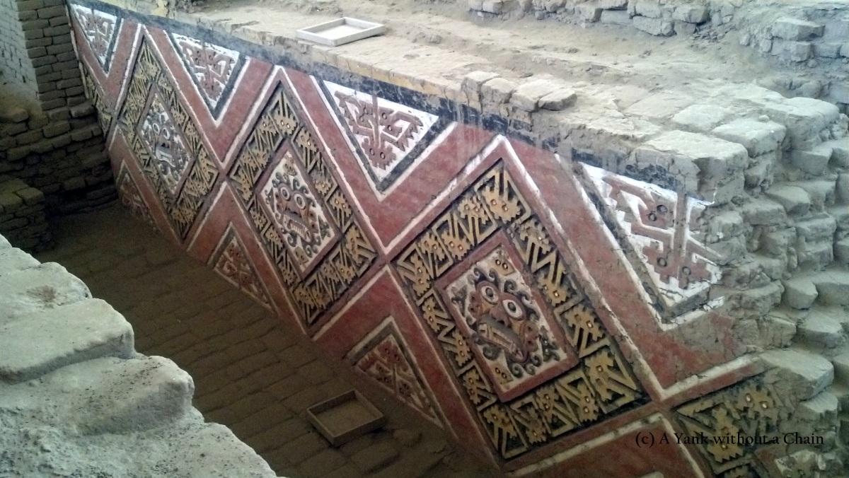 Mosaic of the god Ai Apaec at Huaca de la Luna