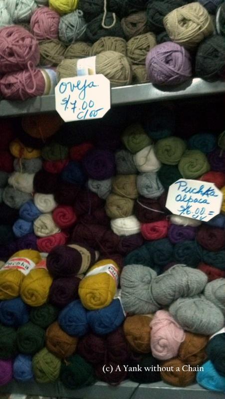 A delightful yarn shop in Huaraz
