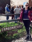 Finally arrived at the entrance to Tambomachay - 11km from Cusco!