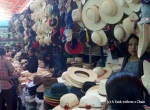 Traditional Peruvian hats are made and sold at San Camilo