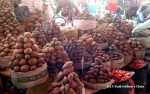 Peru is home to over 5,000 different types of potatoes; a handful are displayed at San Camilo Market