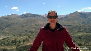 Standing in front of the Colca Valley on day three