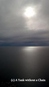 The start of sunset over Lake Titicaca viewed from Cerro Calvario
