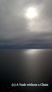The start of sunset over Lake Titicaca viewed from Cerro Calvario