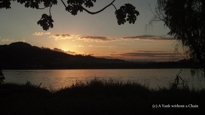 A sunset over the Rio Beni