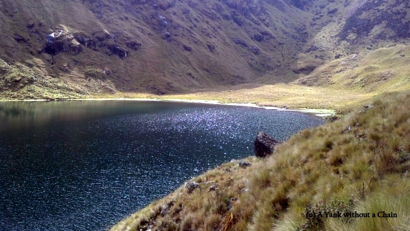 A glacial lake, about three hours hiking from Quime