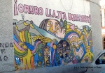 A mural defending miner's rights in Oruro