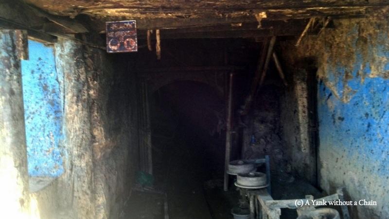 The entrance to a silver mine in Potosi