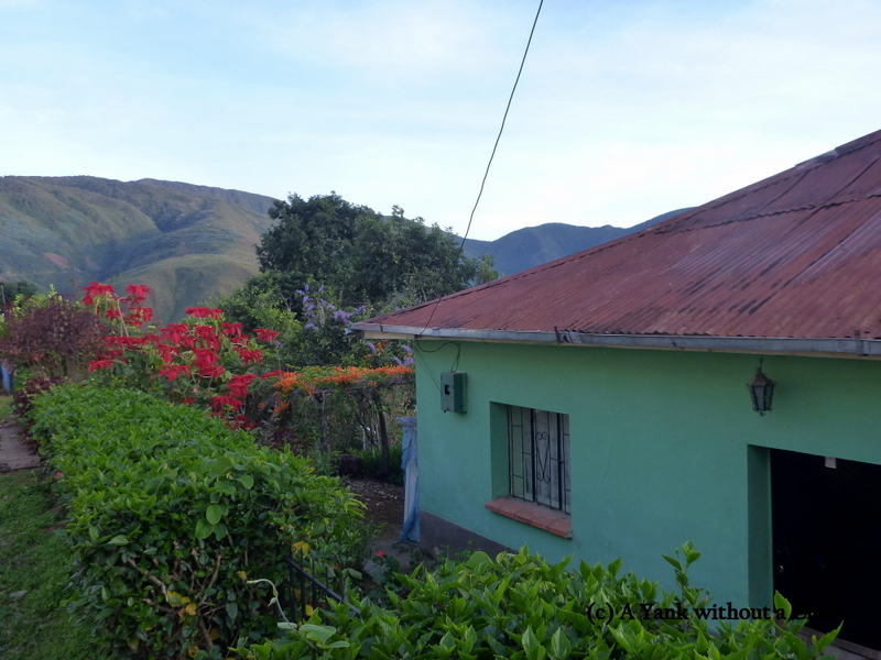A house and flowers in the village of Suri