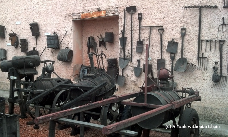 Agricultural tools at the Rutini wine museum
