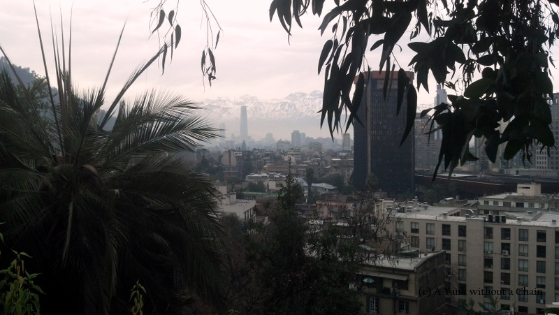 The view of Santiago from Cerro Santa Lucia