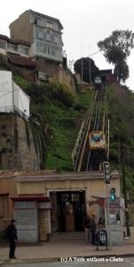 The Artilleria funicular in Valparaiso