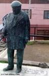 A statue of Neruda in a park near his Valparaiso home