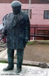 A statue of Neruda in a park near his Valparaiso home