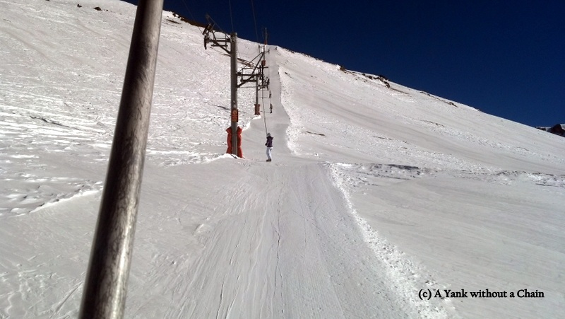 "Riding the ""Valle del Inca"" button lift"