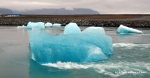 A perfectly blue iceberg at Jokulsarlon
