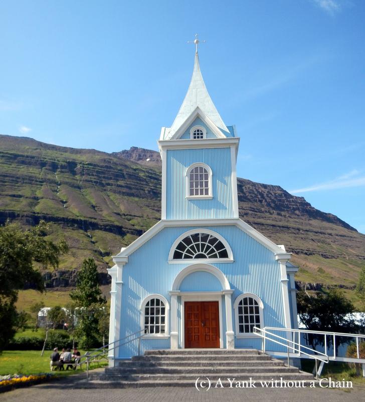 The cute church at Seydisfjordur