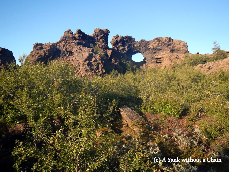 Volcanic formations at Dimmuborgir - or Black Cities
