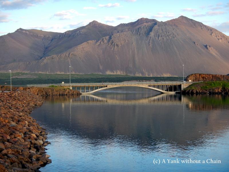 A bridge in Borganes, Iceland