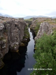 """""""The Money Chasm"""" is a natural wishing well at Thingvellir National Park"""