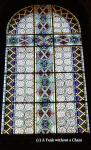 Stained glass in the Orthodox cathedral in Sremski Karlovci