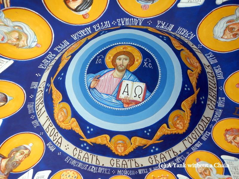 Detail of the gazebo ceiling at Velika Remeta