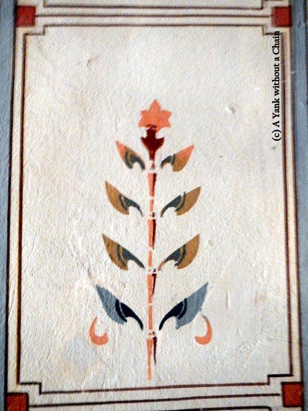 A detail inside the Grgeteg church