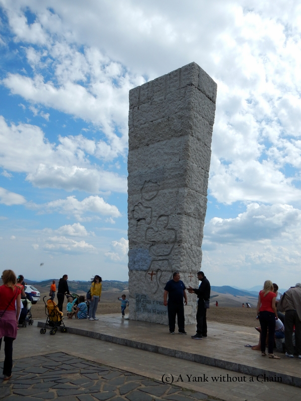 The monument to the Uzice soldiers wounded in WWII