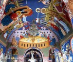The ceiling of the Velika Remeta monastery