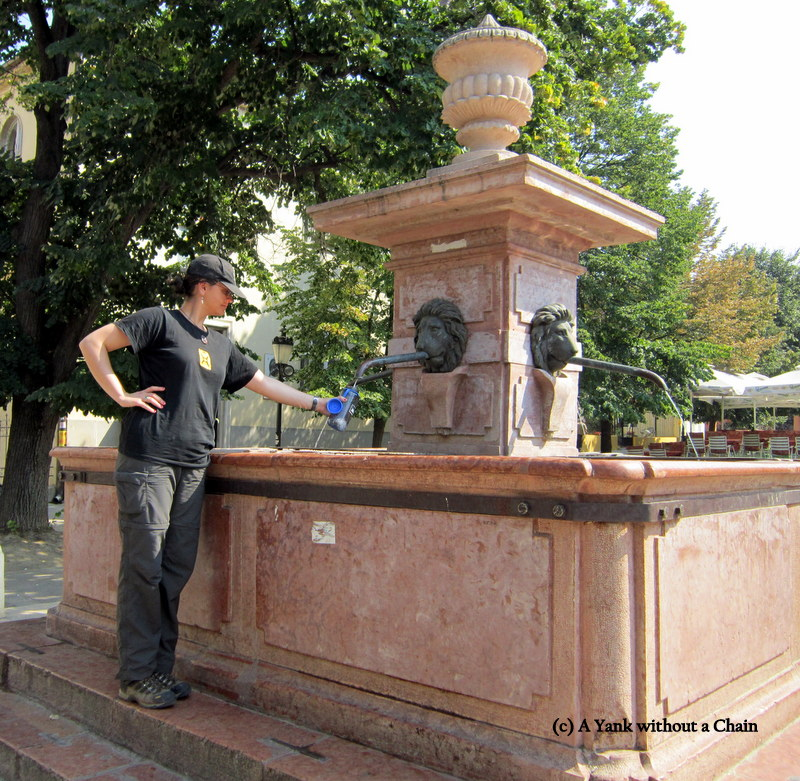 According to legend, whoever drinks out of this fountain will return to Sremski Karlovci and live there forever. Good thing I like Serbia!