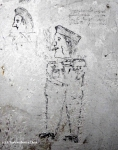 A prisoner's drawing in a cell at the Red Cross Concentration Camp