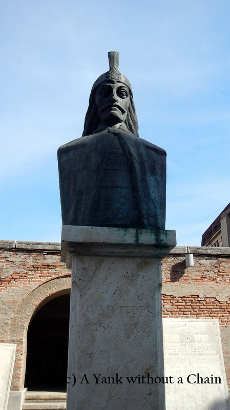 A statue of Vlad the Impaler, aka Dracula, in Bucharest
