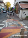 A creative zebra crossing in Belgrade