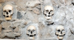 A portion of the skull tower in Nis