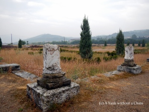 The remains of marble columns at Constantine I's Mediana palace