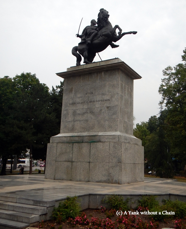 Statue of King Alexander I in Nis