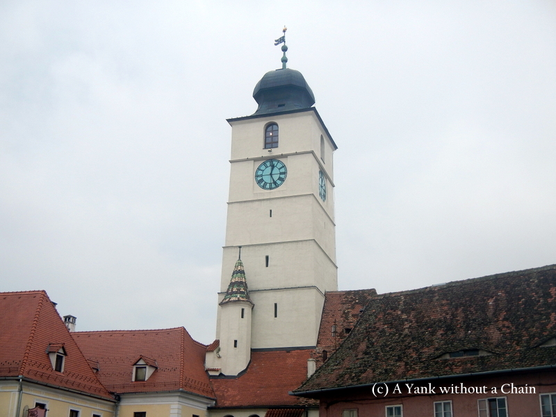 A defense tower in SIbiu's old town