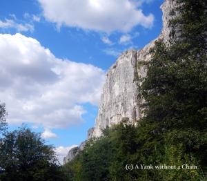 The cliffs outside Veliko Tarnovo