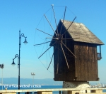 The wooden windmill outside Nessebar's old town