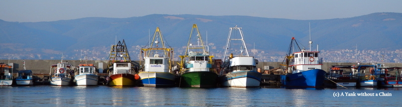 Some boats on a dock in Nessebar
