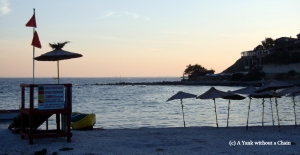 The beachfront at Nessebar on the Black Sea